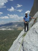 Rock Climbing Photo: Tom Rogers at the top of pitch 6, Grand Central, N...