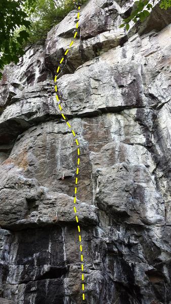 Rock Climbing Photo: Coup de théâtre 5.12c/d