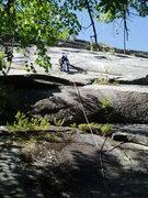 """Rock Climbing Photo: RW on P1 of """"Its a Pinkham Thing"""""""