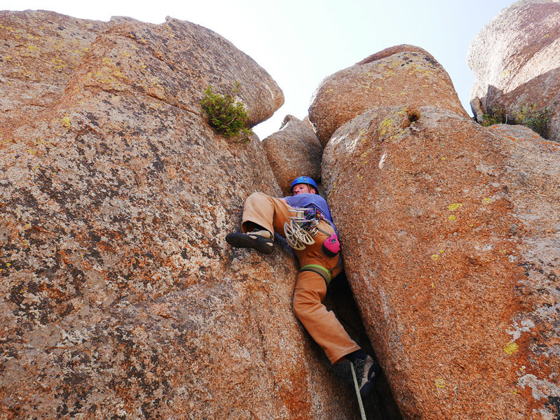 The tough start to Slut. The guidebook called it 5.6, but it felt harder.