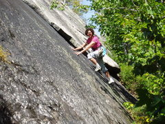 Rock Climbing Photo: S Matz on the TR-Variation, left of the layback fl...