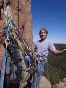 Rock Climbing Photo: The one and only Dave Washburn helping me bolt one...