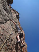Rock Climbing Photo: Matt on the fourth pitch.