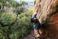 Rock Climbing Photo: Me at Morrison