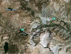 Rock Climbing Photo: Overview showing the routes around Ellery Bowl. Ma...