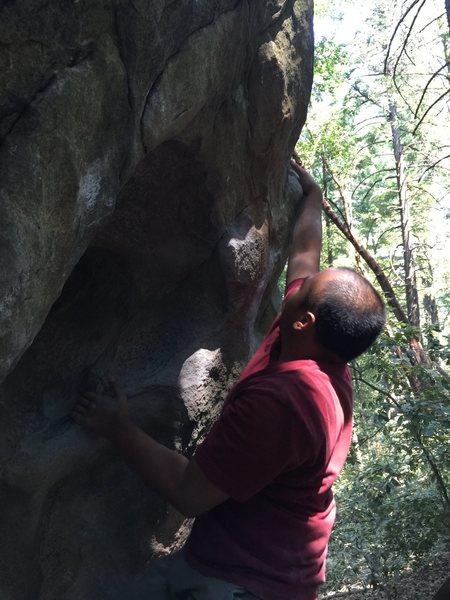 Rock Climbing Photo: Doing work