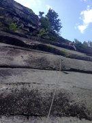 Rock Climbing Photo: Adam Beach on P2