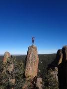 Rock Climbing Photo: Lisa on the summit.