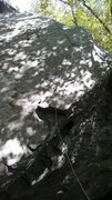 Rock Climbing Photo: shows lower section of the climb.