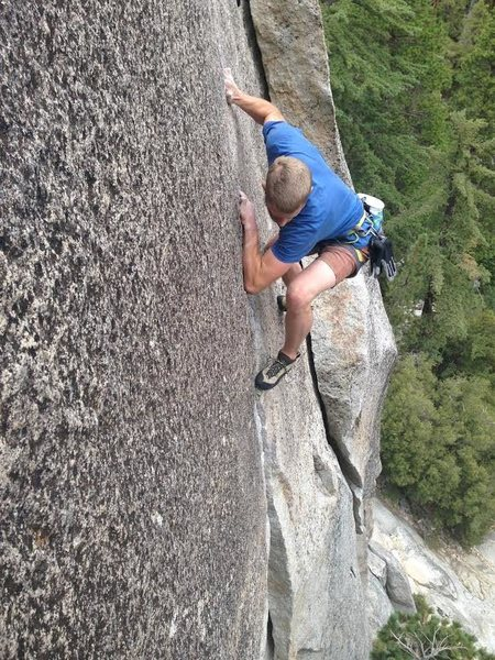 Rock Climbing Photo: Kevin Borchers free soloing Johnny Quest.