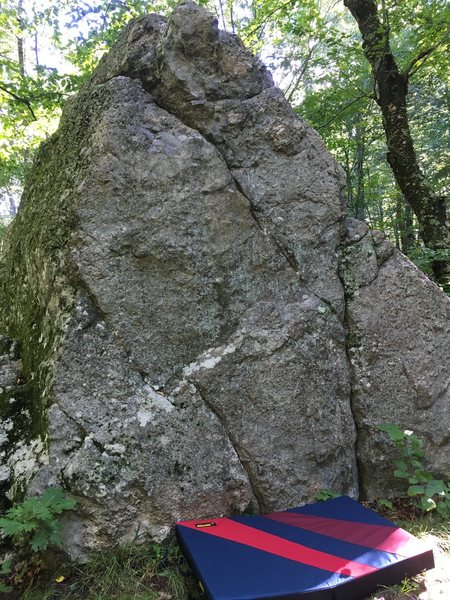 Rock Climbing Photo: Boulder is directly to the right of the trail