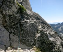 Rock Climbing Photo: 60-70' into P2 - this is where we went right t...