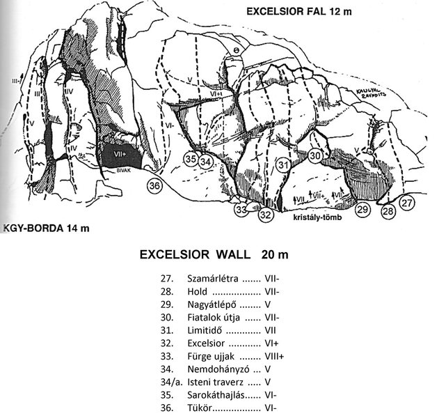 Rock Climbing Photo: Excelsior wall
