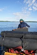 Rock Climbing Photo: The canoe approach to the Crane Lake wall. If you ...