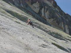 """Rock Climbing Photo: Joe Denicola on pitch 1 of the FFA on """"Tony&#..."""