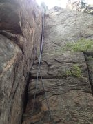 Rock Climbing Photo: A good view of the route with a rope on it.