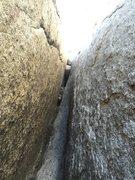 Rock Climbing Photo: Looking up at P2