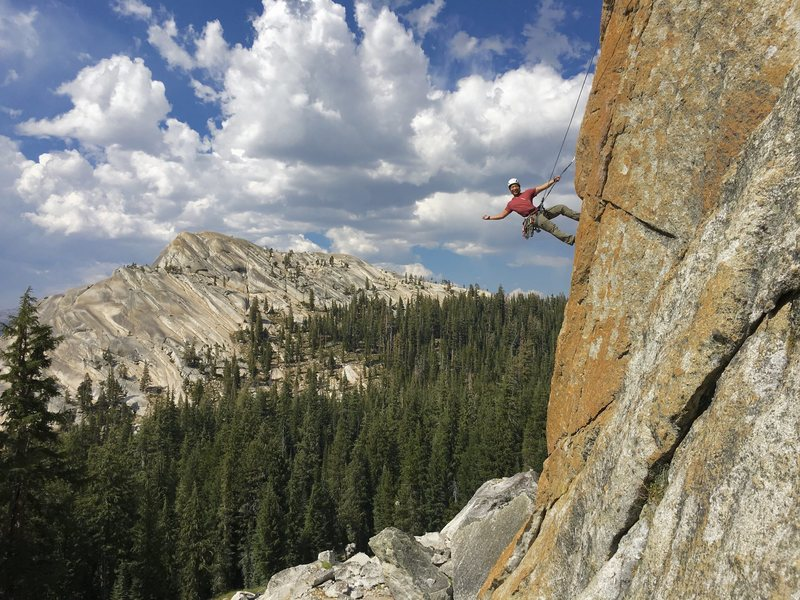 Rock Climbing Photo: Can't say much about the route, but the arete ...