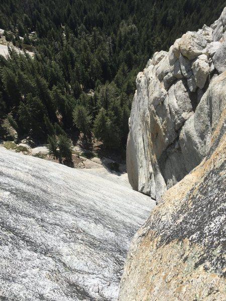 Rock Climbing Photo: Looking back on P3