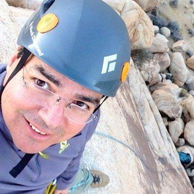 Rock Climbing Photo: Me at Joshua Tree.
