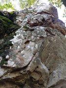 Rock Climbing Photo: follow the crimps along the thin crack to the top