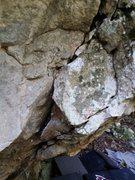 Rock Climbing Photo: Start on the large Flake