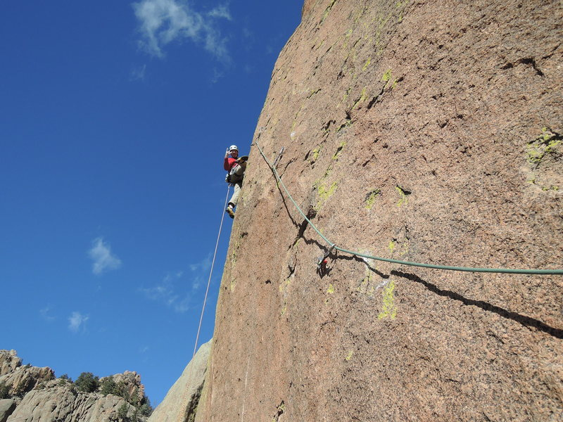 Rock Climbing Photo: Dave on the 5.12 2nd pitch.