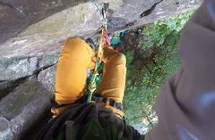 Rock Climbing Photo: Doubling down on Electric Stove Couch (5.7) while ...