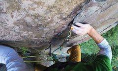 Rock Climbing Photo: Lowe ball on a Mammut Screamer helping protect the...
