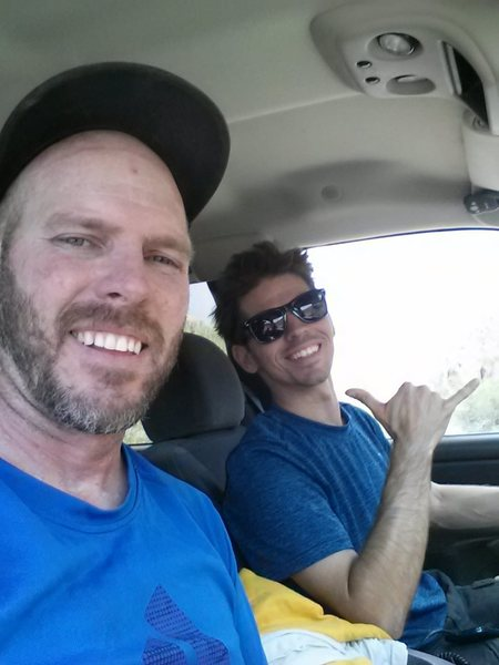 Rock Climbing Photo: Aaron Collins and Jesse Watson headed home after t...