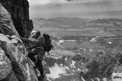 Rock Climbing Photo: Second rappel descending via the  OS after climbin...