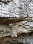 Rock Climbing Photo: Start on the under cling, follow the crack to the ...