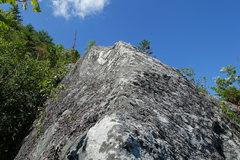 Rock Climbing Photo: P1, the exposed fun arete.