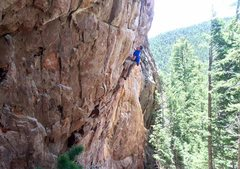 Rock Climbing Photo: Pulling into the crux.