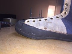 Just to give you an idea my resoles look like. One of the pics is the join between the existing and new rubber.