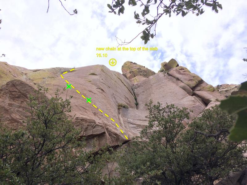 R side of crag double cracks<br>