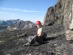 Rock Climbing Photo: Shae belaying about half way up.