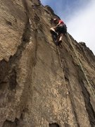 Rock Climbing Photo: Derek with the first ascent of North Table's f...