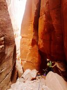 Cave for the second belay.