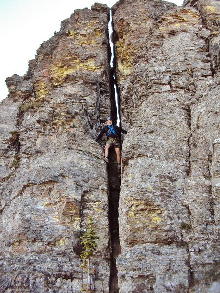 Rock Climbing Photo: Descent Chimney
