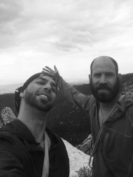 Rock Climbing Photo: Howard & I on the summit of The Pillar of Destiny ...