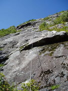 Rock Climbing Photo: 2 [Route Photo 2] Looking at our P2, better to bel...