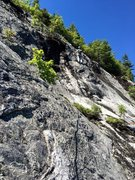 Rock Climbing Photo: 6 [Route Photo 6] Our P6 Variation - heading right...