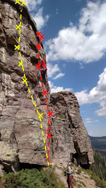 Rock Climbing Photo: November Shivers in yellow and I'd rather be b...
