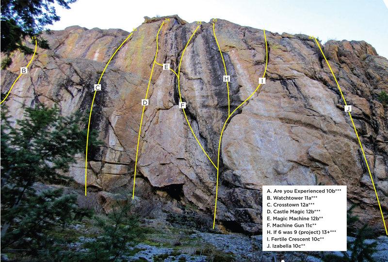 Rock Climbing Photo: Colors Crag topo 3.