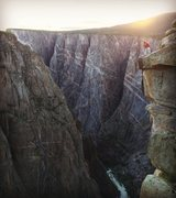 Rock Climbing Photo: Looking over the abyss beyond the North Chasm View...