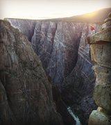 Rock Climbing Photo: Now that's a big drop....