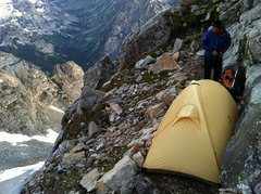 Rock Climbing Photo: camp #1 between Owen and the Grand, on our 3-day t...