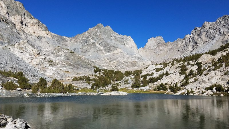 Dragon Peak from the first lake on the approach