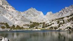 Rock Climbing Photo: Dragon Peak from the first lake on the approach